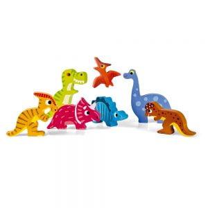 Janod Chunky Wooden Dinosaur Jigsaw Puzzle