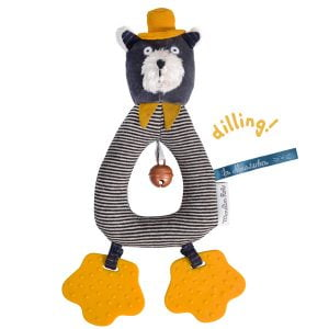 Moulin Roty Les Moustaches Alphonse the Cat Ring Rattle