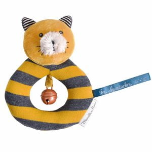 Moulin Roty Les Moustaches Lulu the Cat Ring Rattle
