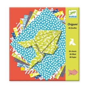 Djeco Origami Papers 80 Printed Sheets