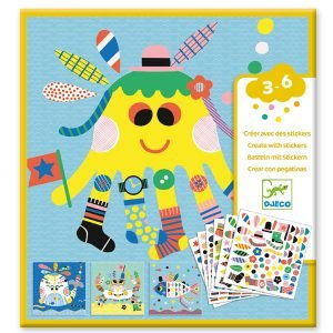 Djeco Create With Stickers – Sea Creatures