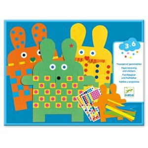 Djeco Six Bunnies Paper Weaving