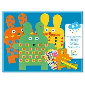 Djeco Six Bunnies Paper Weaving
