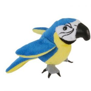 The Puppet Company Blue and Gold Macaw Finger Puppet