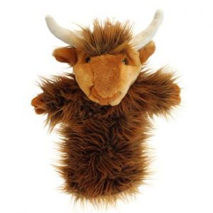 The Puppet Company Highland Cow Long Sleeved Puppet