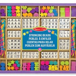 Melissa and Doug Wooden Stringing Alphabet Beads