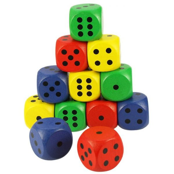 Bigjigs-Large-Wooden-Coloured-Dice-MrWolf