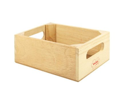 Bigjigs Wooden Food Crate Mr Wolf
