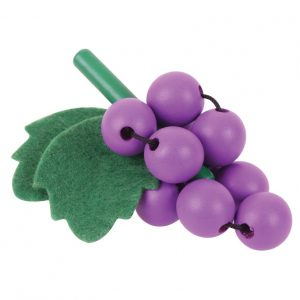 Bigjigs Wooden Bunch of Grapes Play Food