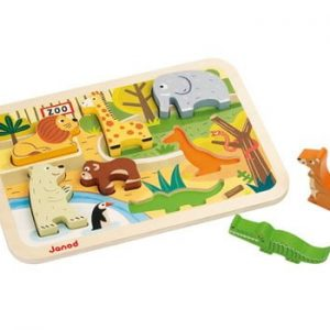 Janod Chunky Wooden Zoo Puzzle