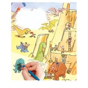 Scribble Down Transfers – Dinosaur Land