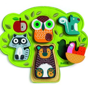 Djeco Oski Fabric and Wood Puzzle