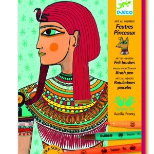 Djeco Felt Brushes Egyptian Art