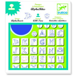 Djeco Alphabeasts Stamp Set