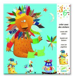 Djeco Create With Stickers – Create Animals