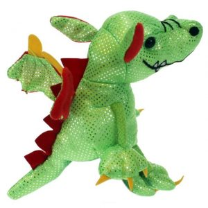The Puppet Company Green Dragon Finger Puppet