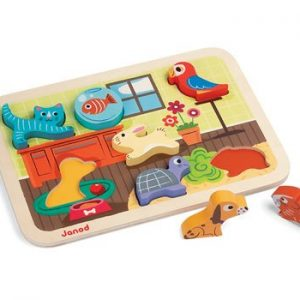 Janod Chunky Wooden Pets Puzzle