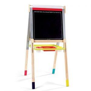 Janod 'Graffiti' Adjustable Easel & Blackboard