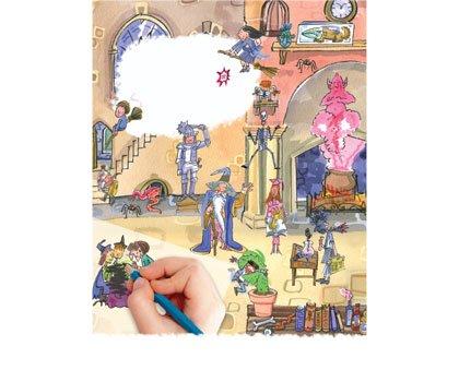 school of magic scribble down inside