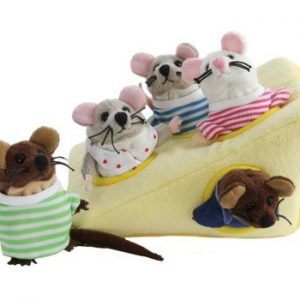The Puppet Company Mouse Family in Cheese Hide Away Puppet