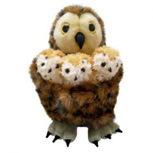 The Puppet Company Tawny Owl with 3 Babies Hide Away Puppet