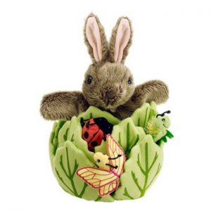 The Puppet Company Rabbit in Lettuce Hide Away Puppet