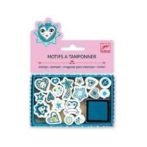 Djeco Mini Stamps Hearts And Stars