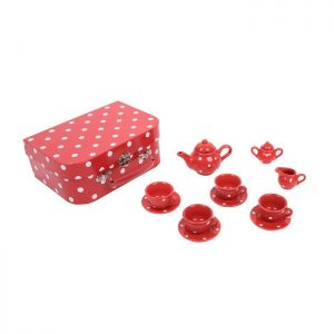 Bigjigs Red Polka Dot Tea Set