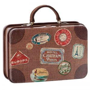 Maileg Metal Suitcase, Brown Travel