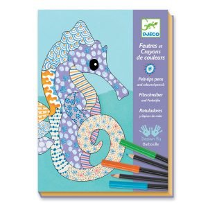 Djeco Felt Brushes and Pencils Motif Art