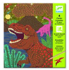 Djeco Scratch Cards When Dinosaurs Reigned