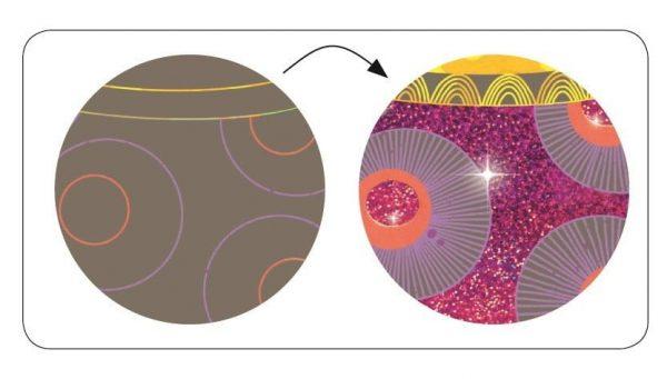 Djeco Scratch Art Beauties Ball example