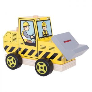Bigjigs Stacking Wooden Bulldozer
