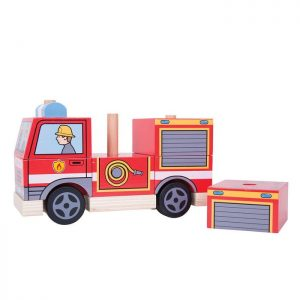 Bigjigs Stacking Wooden Fire Engine