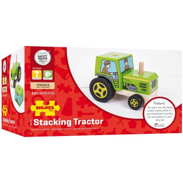 bigjigs stacking tractor box Mr Wolf