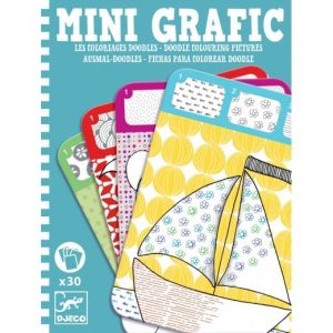 Djeco Mini Grafic – Doodle Colouring Pictures