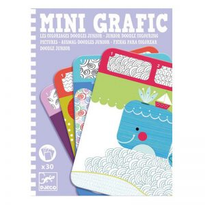 Djeco Mini Grafic – Junior Doodle Colouring Pictures
