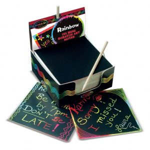 Melissa and Doug Box of Rainbow Mini Scratch Notes
