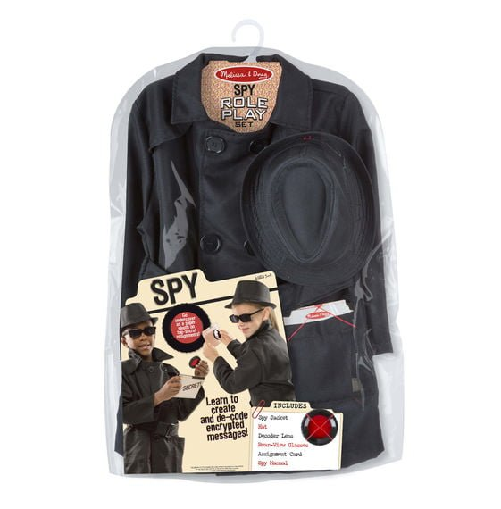 spy role play costume set packaging