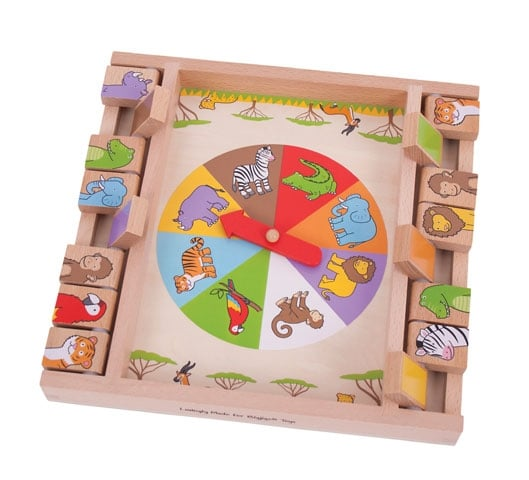 bigjigs animal shut the box game wooden colourful beginner game
