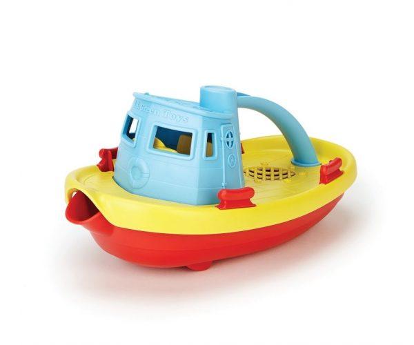 green toys blue tug boat bath toy
