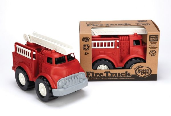 green toys fire truck sand pit toy