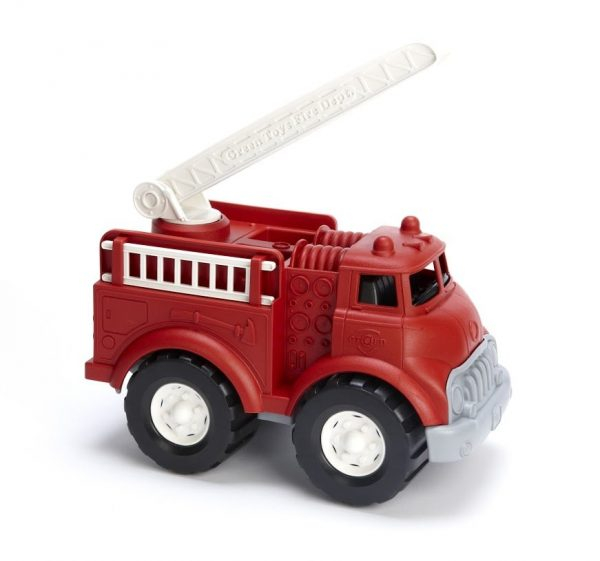green toys fire truck out of packaging