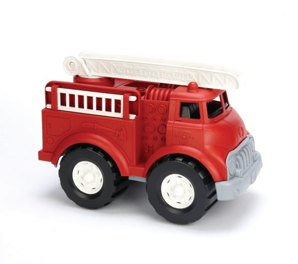 green toys general sand pit toy fire truck