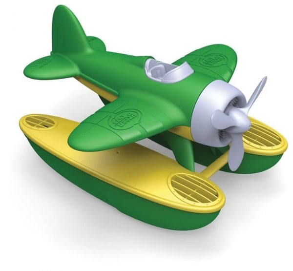 green toys sea plane with green wings
