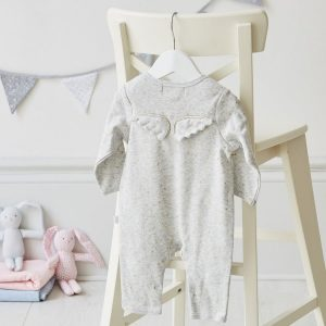 Albetta Gold Star Angel Wings Babygrow