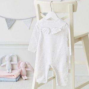 Albetta Silver Star Angel Wings Babygrow