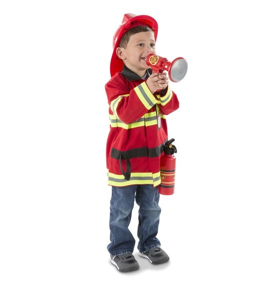 melissa and doug fire fighter costume little boy