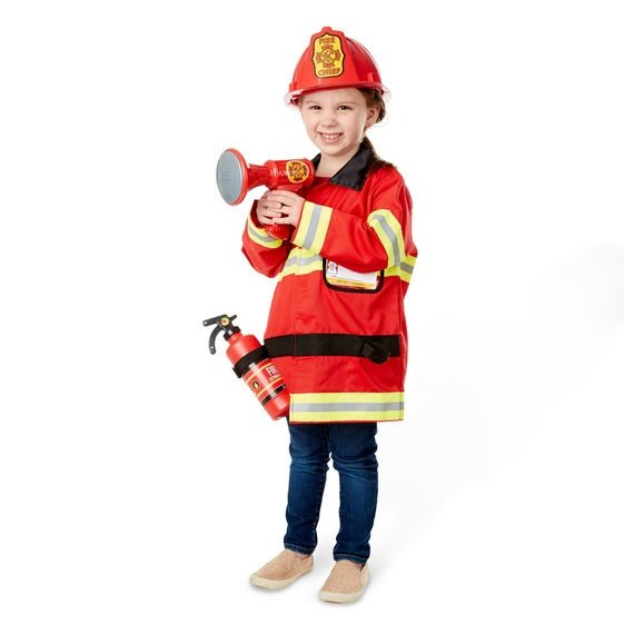 melissa and doug fire fighter costume little girl