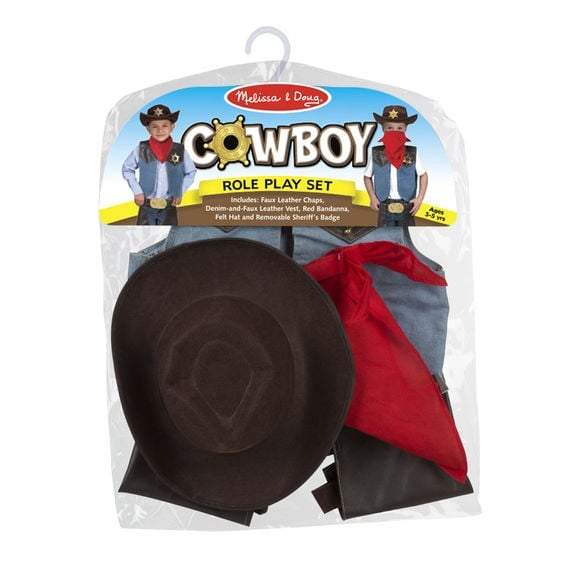 Melissa and doug cowboy costume packaging